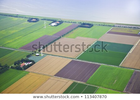 Farm landscape from above, The Netherlands Stock photo © gigra