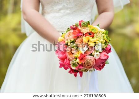 невест цветы красочный розовый Сток-фото © KMWPhotography
