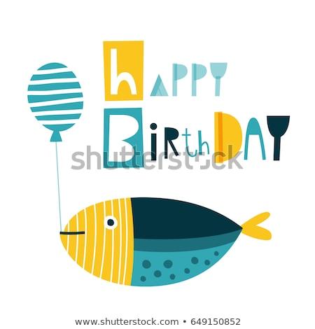 Fish Birthday Card Stock photo © yurumi