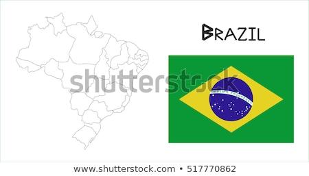 ブラジル フラグ テクスチャ 実例 eps10 ストックフォト © SolanD