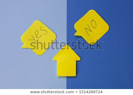 Help - Word on Yellow Sticky Notes Stock photo © iqoncept