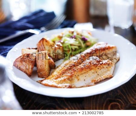 Fileto balık satış açık gıda Stok fotoğraf © rhamm