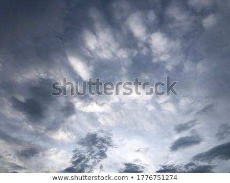 Blu stormy grigio nubi cielo sera Foto d'archivio © lunamarina