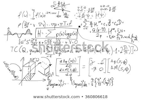 Mathematics equations on white Stock photo © mcherevan