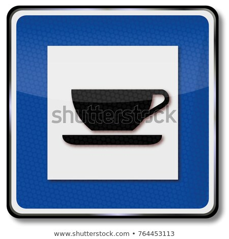 Traffic sign resting place, break and coffee break Stock photo © Ustofre9