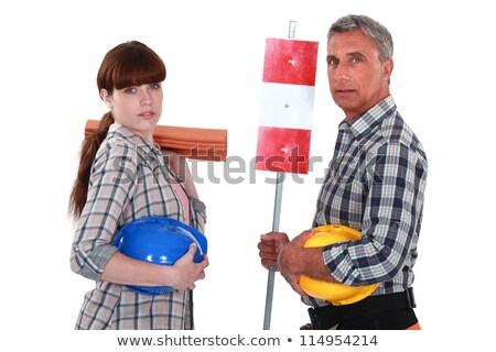 Daughter helping her roofer father Stock photo © photography33