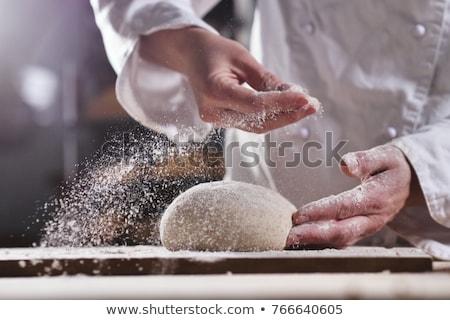 рук женщину деревянный стол продовольствие Сток-фото © fantasticrabbit