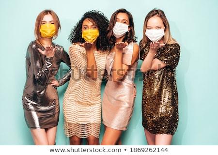 Szexi lány csoport három fiatal gyönyörű szexi Stock fotó © Studiotrebuchet