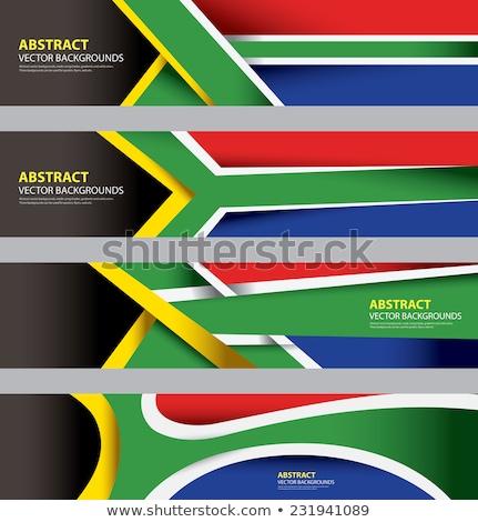 kaart · vlag · South · Africa · business · weg · witte - stockfoto © perysty