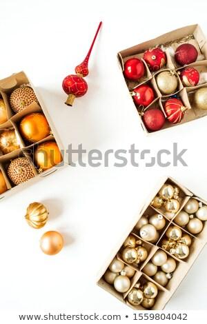 Piros labda dobozok egy különböző 3D Stock fotó © silense