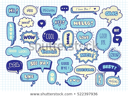 Stock photo: Funny speech bubbles