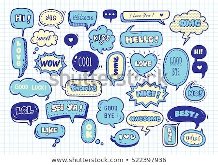Funny speech bubbles stock photo © Genestro