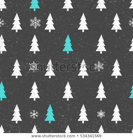 シームレス クリスマスツリー パターン ベクトル eps10 クリスマス ストックフォト © damonshuck