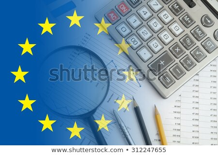 European Union - Flag on Button of Black Keyboard. Stock photo © tashatuvango