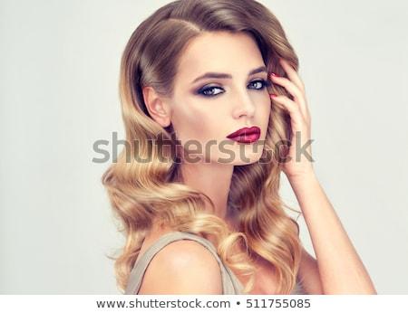 De moda rubio mujer hermosa largo Foto stock © stryjek
