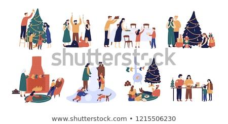 Flat people - holidays Stock photo © AnatolyM