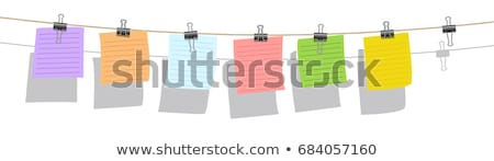 set of note papers with clothes pegs stock photo © maros_b