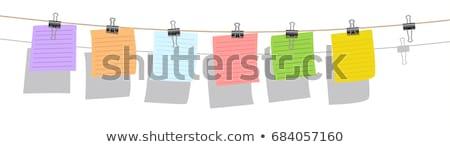 Zestaw Uwaga kart ubrania zauważa puszka Zdjęcia stock © maros_b
