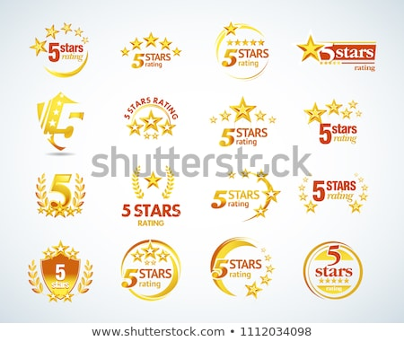 Excellence award with five stars Stock photo © creisinger