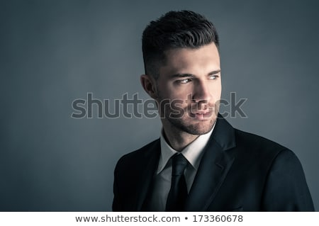 düşük · anahtar · portre · genç · çekici · adam - stok fotoğraf © elnur