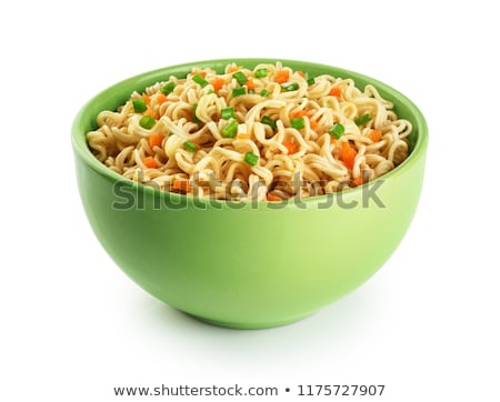 bowl of noodle and vegetable soup Stock photo © M-studio