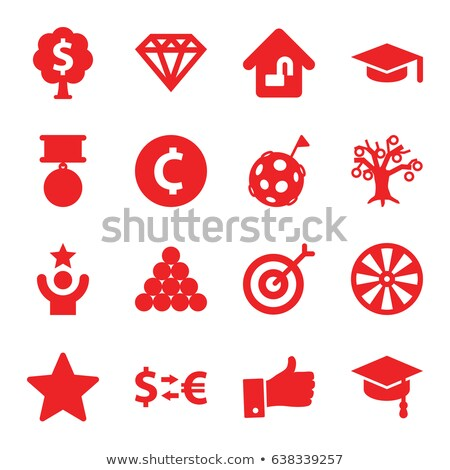 Graduate - Target Concept on Triangle Background. Stock photo © tashatuvango