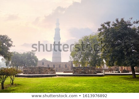 Kőfal Delhi India háttér tégla építészet Stock fotó © meinzahn