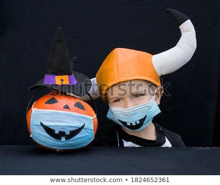 довольно · ведьмой · привлекательный · Хэллоуин · костюм - Сток-фото © Novic