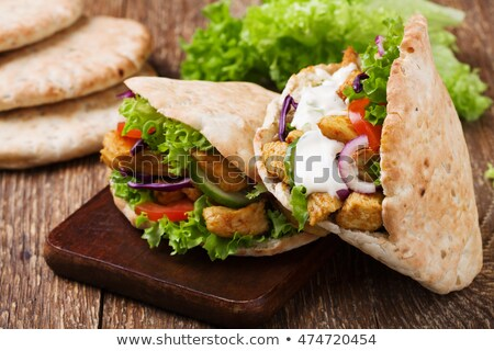 pita bread with lettuce and vegetables Stock photo © Peredniankina