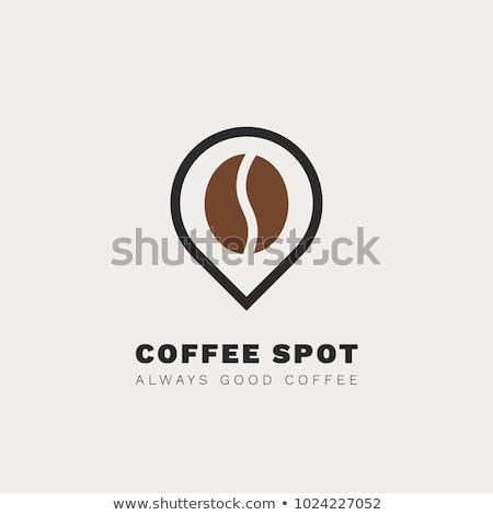 Vektör kahve nokta ikon kafe fincan Stok fotoğraf © rioillustrator