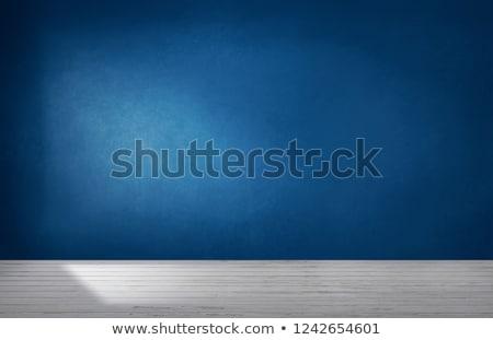 Blu muro grunge testo immagine carta Foto d'archivio © cla78