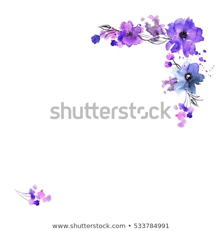 violet flowers border stock photo © barbaliss