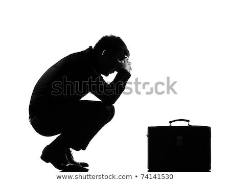 Silhouette Of A Desperate Man stock photo © Belyaevskiy