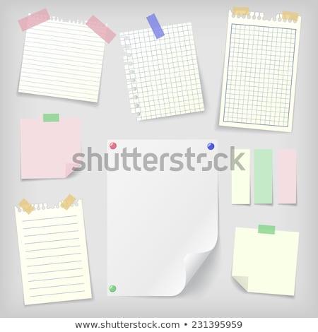 Mały notatka pin biuro zielone kolor Zdjęcia stock © opicobello