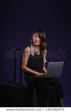 Çin · işkadını · çalışma · dizüstü · bilgisayar · iş - stok fotoğraf © monkey_business