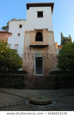 Alhambra Courtyard Moorish Wall Designs Window Granada Andalusia Stock photo © billperry