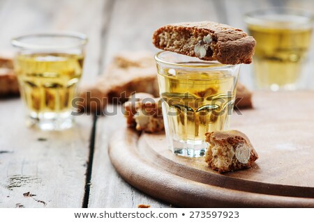 biscotti or cantucci biscuits cantuccini and vin santo wine stock photo © aladin66