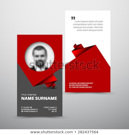 Modern simple red business card template with user profile Stock photo © orson