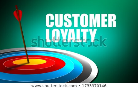 Loyalty - Arrows Hit in Red Target. Stock photo © tashatuvango