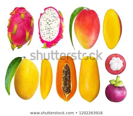 Мангостин здорового плодов овощей свежие фрукты бизнеса Сток-фото © scenery1
