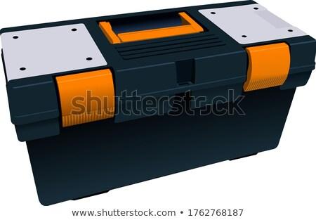 Plastic box full for tools. Vector illustration Stock photo © leonido