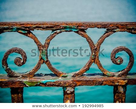 Viharvert promenád öreg rozsdás fekete tenger Stock fotó © photosebia