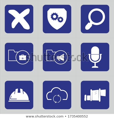 glass icons set close no cancel delete Stock photo © mOleks