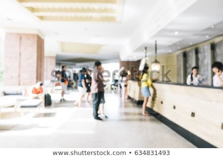 Blurred abstract image of white hotel lobby  Stock photo © dariazu