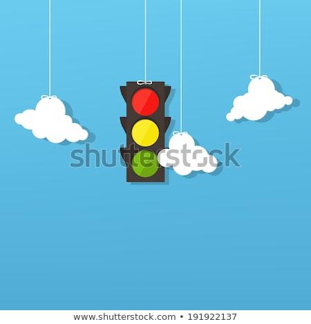 światłach chmura icon odizolowany biały czarny Chmura Zdjęcia stock © cteconsulting