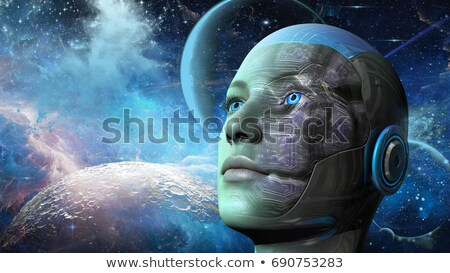 Cyborg Woman - Humanoid in deep space Stock photo © ankarb