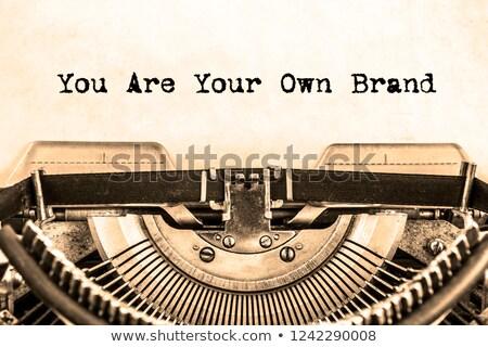 brand word in  typewriter keys  Stock photo © PixelsAway