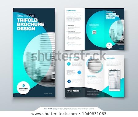 Moderne vector drie brochure ontwerpsjabloon brochure Stockfoto © orson