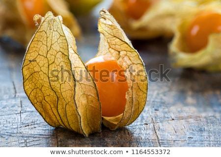 Primo piano frutta alimentare natura sfondo arancione Foto d'archivio © inaquim