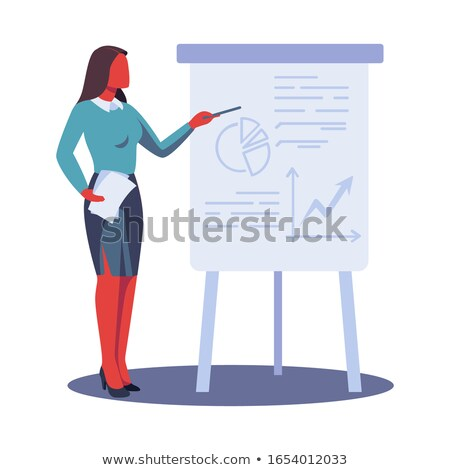 woman beside whiteboard stock photo © aikon